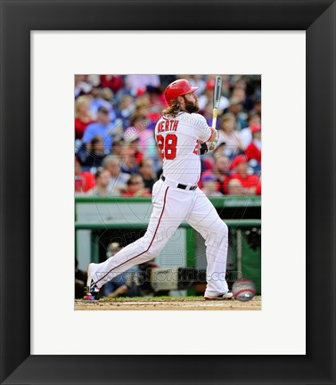 Framed Jayson Werth 2014 Action Print