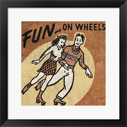 Framed Fun On Wheels Print