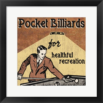 Framed Pocket Billiards Print
