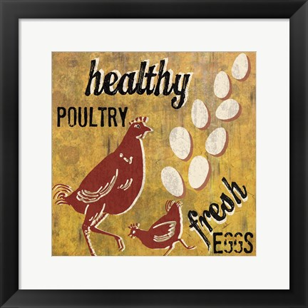 Framed Healthy Poultry Print