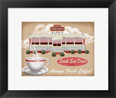 Framed South End Diner Print