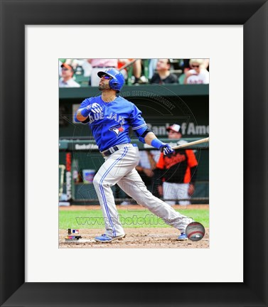 Framed Jose Bautista 2014 Action Print