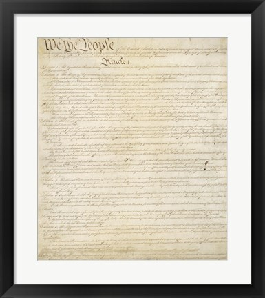 Framed Constitution of the United States I Print