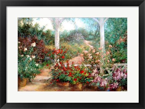 Framed Come To The Garden Print