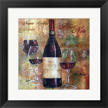 Framed Napa Valley Pinot Lettered Print
