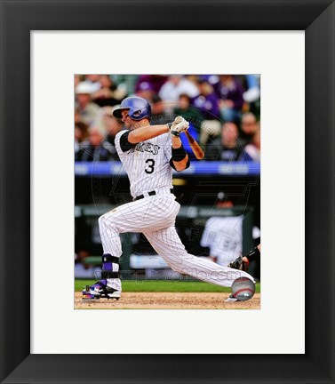 Framed Michael Cuddyer 2014 Batting Action Print
