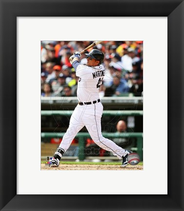 Framed Victor Martinez 2014 batting Print