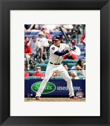 Framed Freddie Freeman 2014 Action Print
