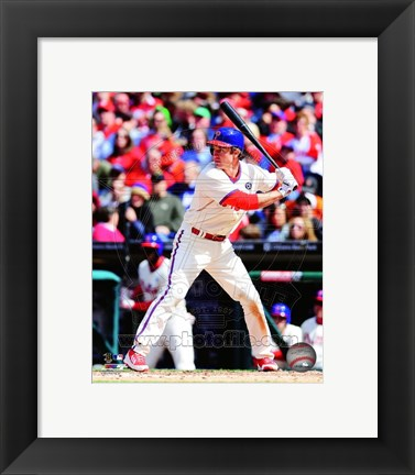 Framed Chase Utley 2014 Action Print