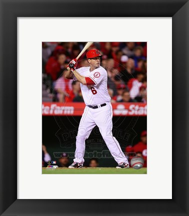 Framed David Freese 2014 batting Print