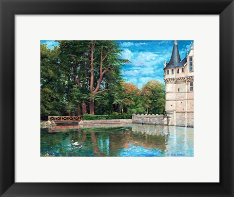 Framed At The Chateau Print