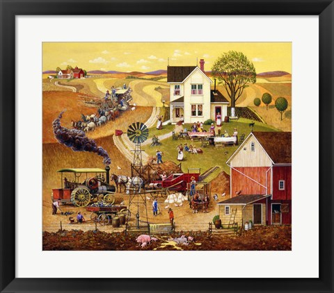 Framed Harvest Time Print