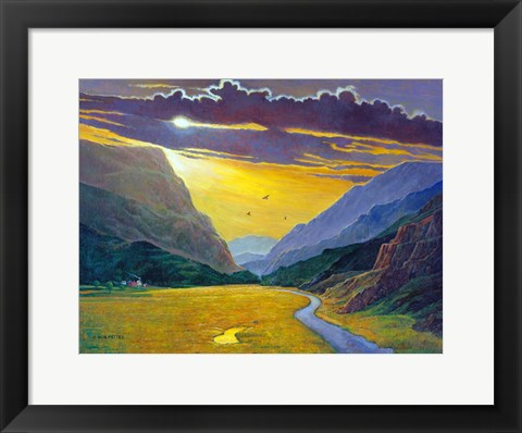 Framed Sunset In Wales Print
