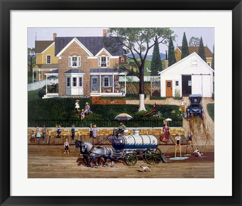 Framed Water Wagon Print