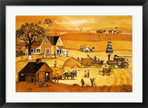 Framed Threshing Print