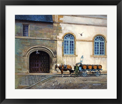Framed Wine Cart Print
