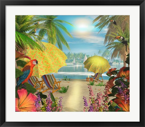 Framed Tropical Delight Print