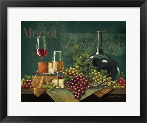 Framed Bordeaux Print