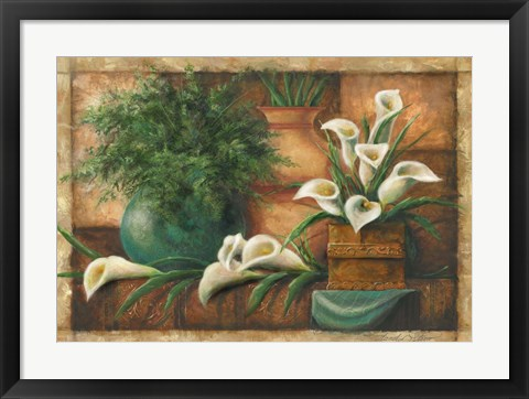 Framed Vessels And Callas Print