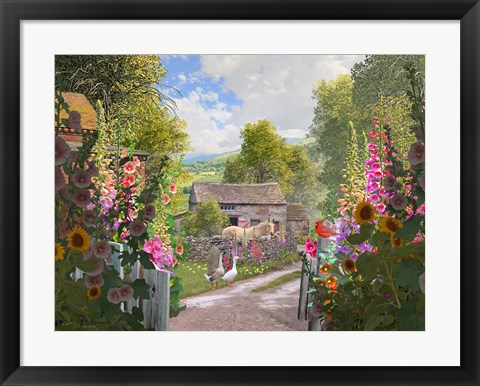 Framed Yorkshire Country Farm Print