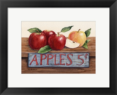 Framed Apples 5 Cents Print