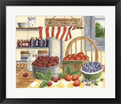 Framed Berries and Cream Print