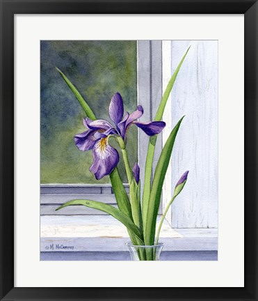 Framed Blue Flag-Wild Iris Print