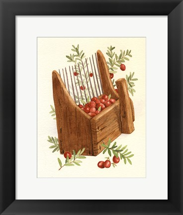 Framed Cranberry Scoop Print