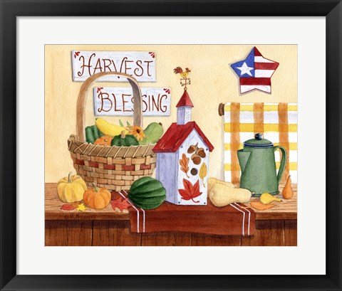 Framed Harvest Blessing Print
