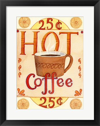 Framed Hot Coffee Print