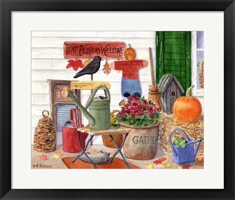 Framed Leaf Peepers Welcome Print