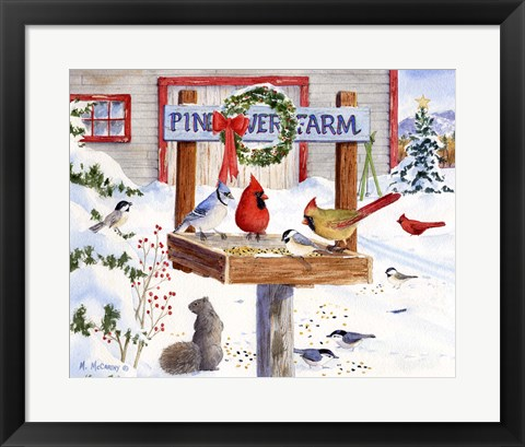 Framed Pine River Farm Print