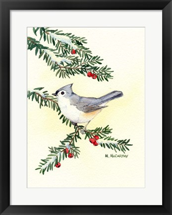 Framed Tufted Titmouse Print