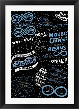 Framed Fault in Our Stars - Love Note Print