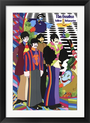 Framed Beatles - Cast and Crew Print
