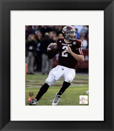 Framed Johnny Manziel Texas A&M Aggies 2013 Print