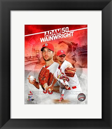 Framed Adam Wainwright 2014 Portrait Plus Print