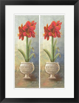 Framed 2-Up Amaryllis Vertical Print