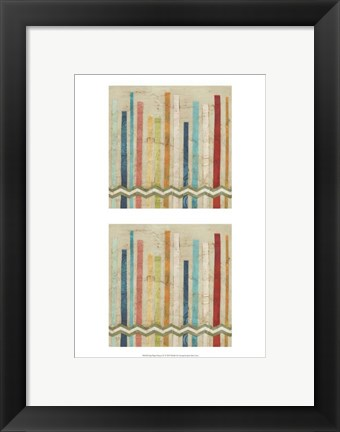 Framed 2-Up Paper Fences IV Print