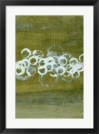 Framed Green Orbs II Print