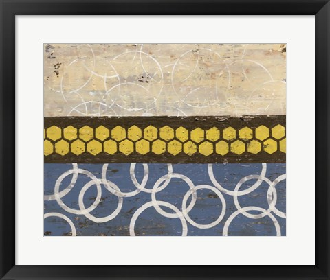 Framed Honey Comb Abstract I Print