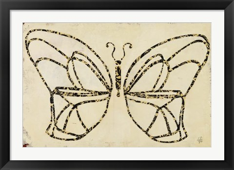 Framed Butterfly Armature Print