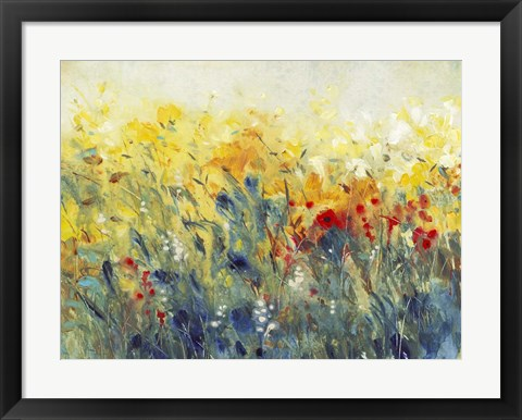 Framed Flowers Sway I Print