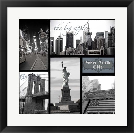 Framed Snapshots of New York Print