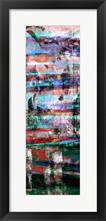 Framed Textures Lines II Print
