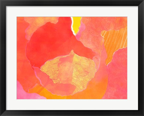Framed Cabbage Rose II Print