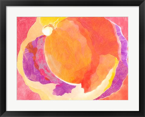Framed Cabbage Rose V Print