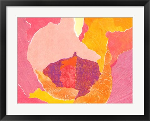 Framed Cabbage Rose VI Print