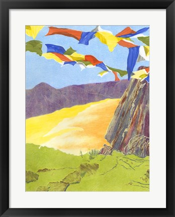 Framed Prayer Flags III Print