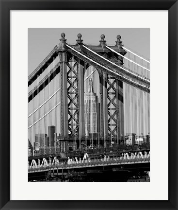 Framed Bridges of NYC I Print